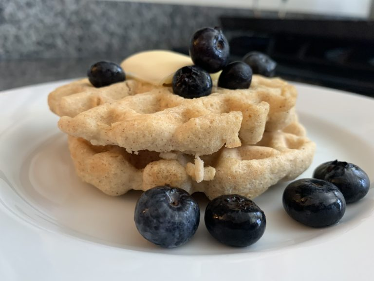 Waffles SUPER Easy Keto & Paleo Waffles Recipe french life paleo breakfast naia skyrunning girl food vegan healthy tower-pierce
