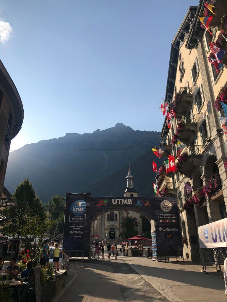 UTMB start in Mont Blanc, France