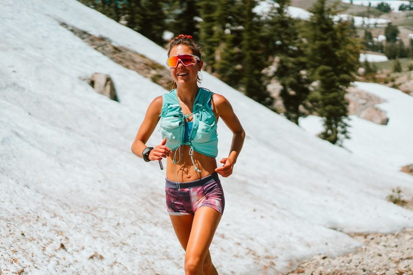 sofia sanchez runner skyrunner skyrunning girl ultra running less cloud more sky lake tahoe california usa nordic skiing colby college