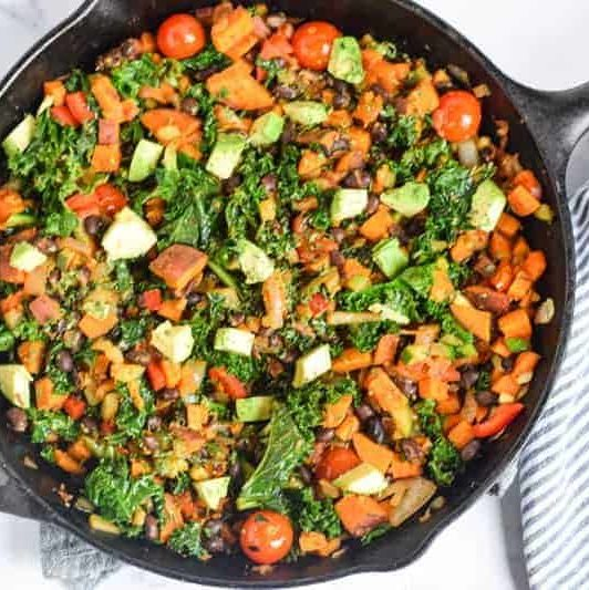 - Vegan Sweet Potato Kale Hash