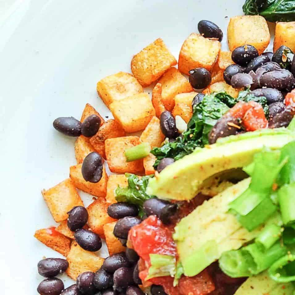 SWEET POTATO AND BLACK BEAN HASH