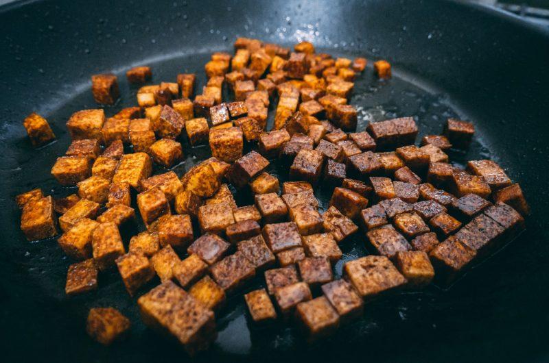 Grilled Vegan Tofu with Peanut Sauce